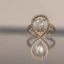 Solitaire Diamant Poire
