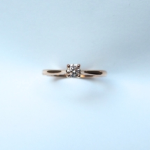 Solitaire or rose 0,20 carat