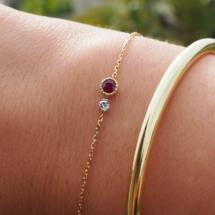 Bracelet rubis et diamant.